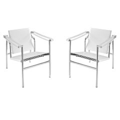 Le corbusier lc1 sling chairs pair