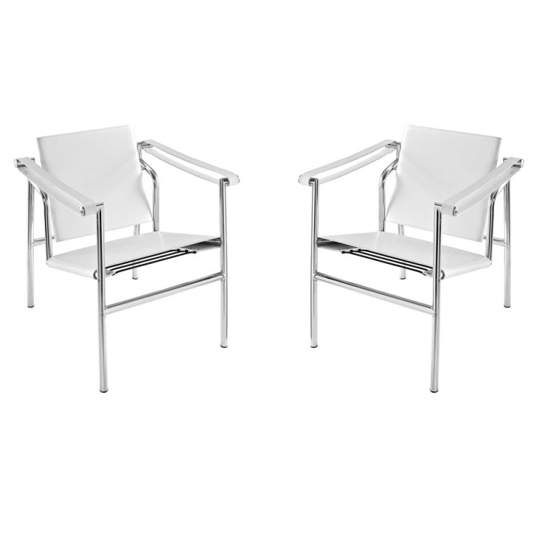 le corbusier lc1 sling chairs pair at 1stdibs. Black Bedroom Furniture Sets. Home Design Ideas