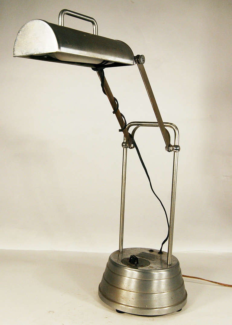 Sun Kraft Machine Age Desk Table Lamp With Timer At 1stdibs