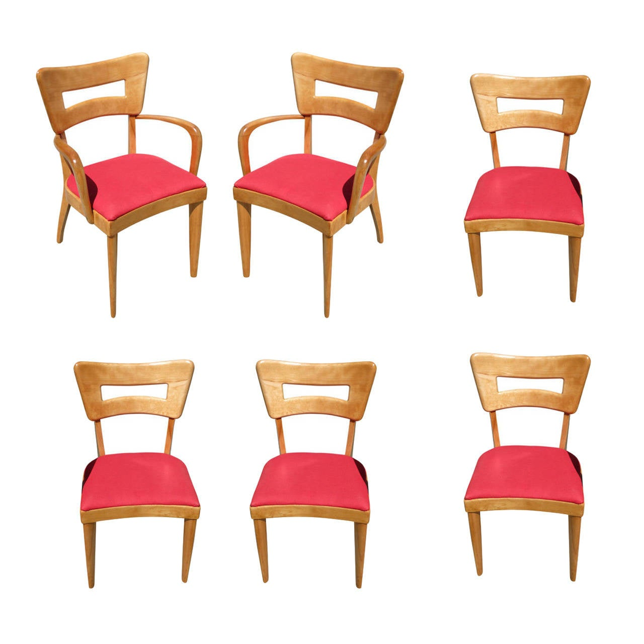"Dining Chair Sets Of 6: Heywood Wakefield M154 ""DogBone"" Dining Chairs, Set Of Six"