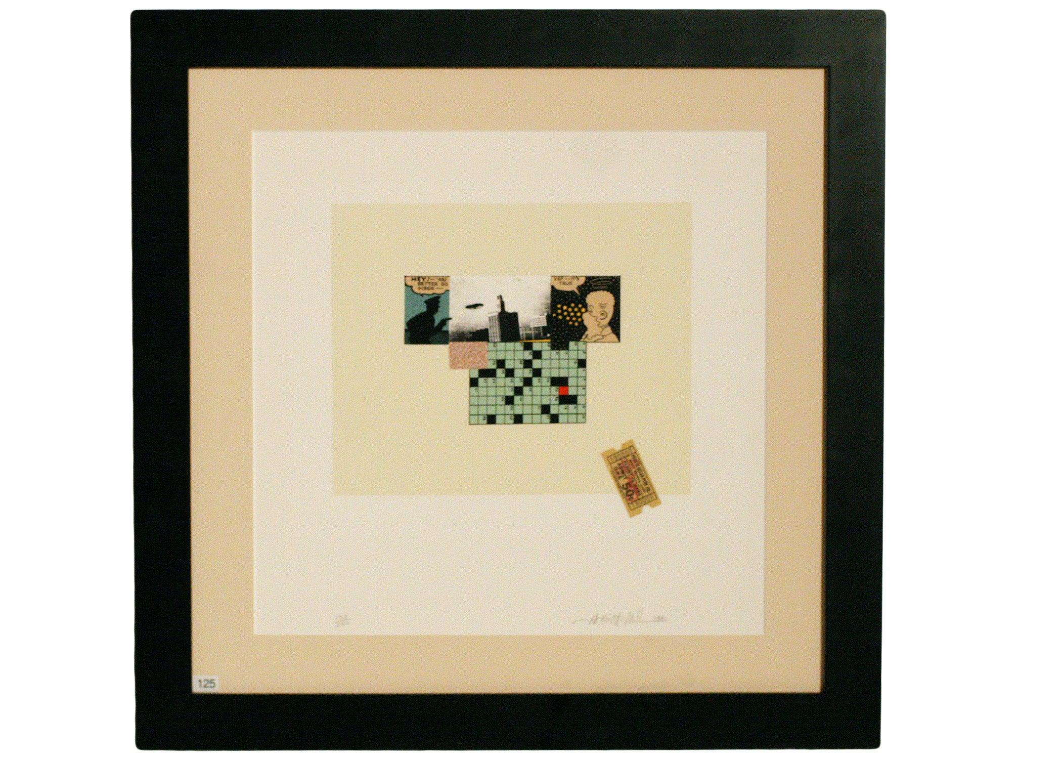 Michael McMillen 11 Color Silkscreen Print, 1991