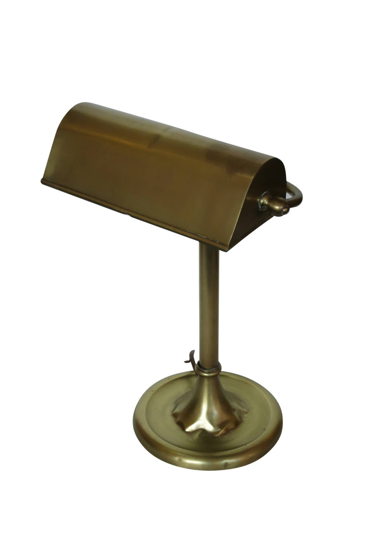"""Traditional Solid Brass """"Bankers"""" Desk Lamp circa 1930 at"""