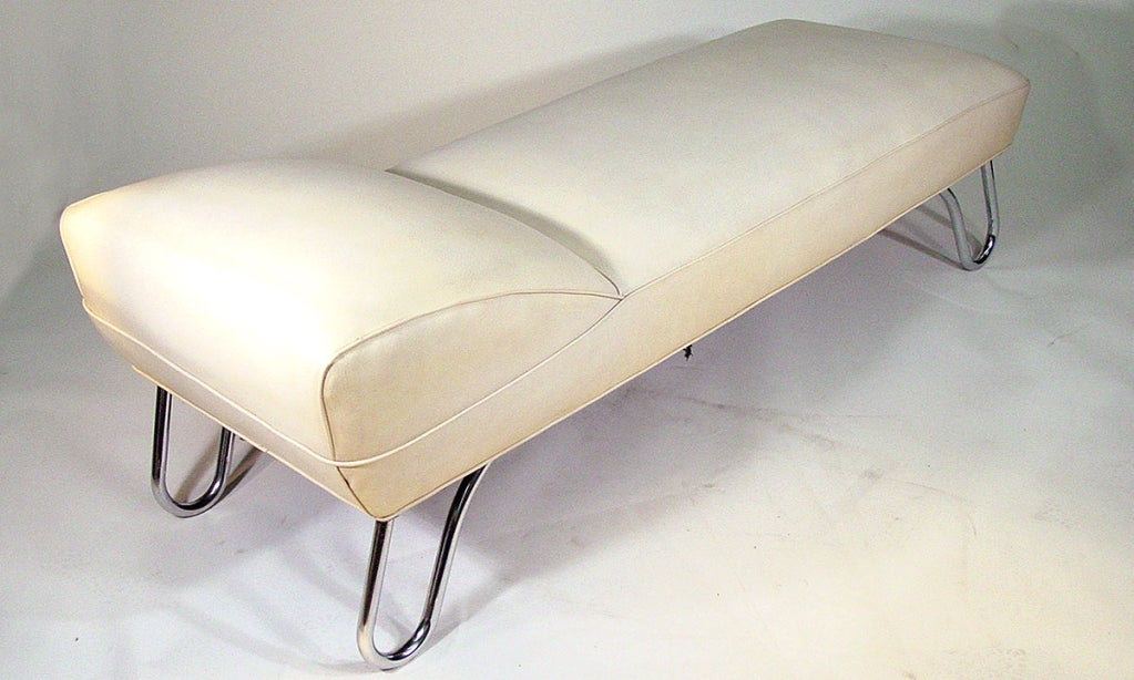 Kem weber art deco steamer chaise longue daybed at 1stdibs for 1930s chaise lounge