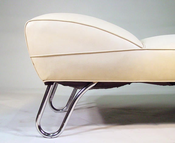 Kem weber art deco steamer chaise longue daybed at 1stdibs for Art nouveau chaise longue