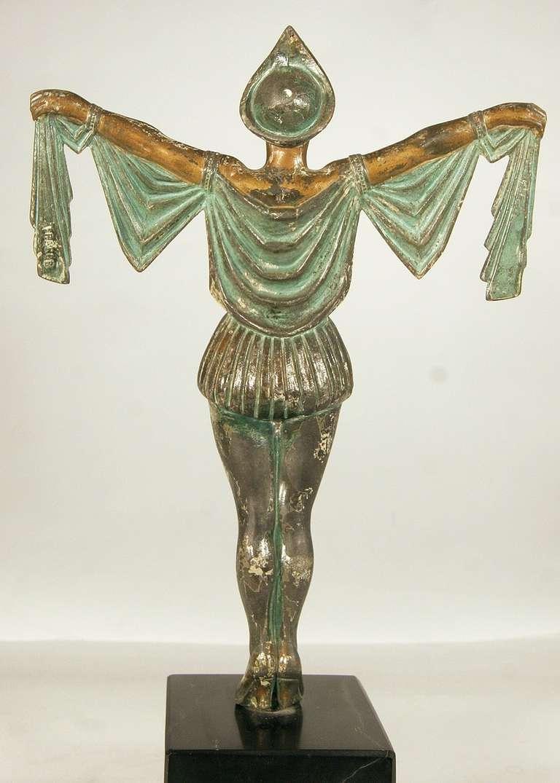 Art Deco Flapper Erotic Dance Spelter Female Statue For Sale At 1Stdibs-2969