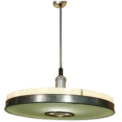 Original May Company Wilshire Streamline Stainless Pendant Ceiling Lamp