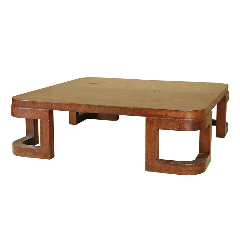 Streamlined Art Deco Coffee Table At 1stdibs