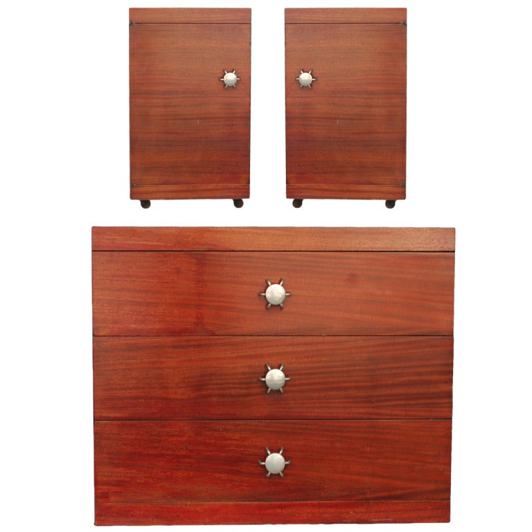 Contemporary Bedroom Furniture Sale: Rare Bedroom Set By Martin Fineman For Multiplex Modern