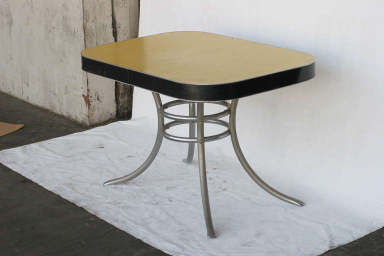 mid century formica kitchen table with chrome legs at 1stdibs