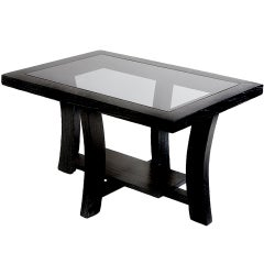 Paul Frankl Black Stepped Side Table for Brown Saltman