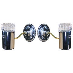 Pair of Bubble Glass Wall Sconces in the Manner of Limburg