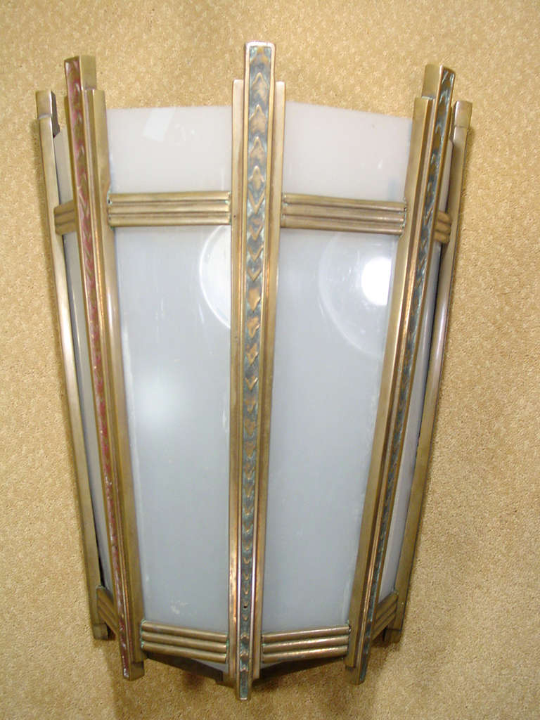 French Art Deco Wall Sconces : Large French Art Deco Wall Sconce at 1stdibs