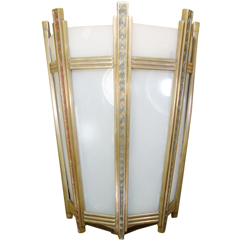 Large French Art Deco Wall Sconce at 1stdibs