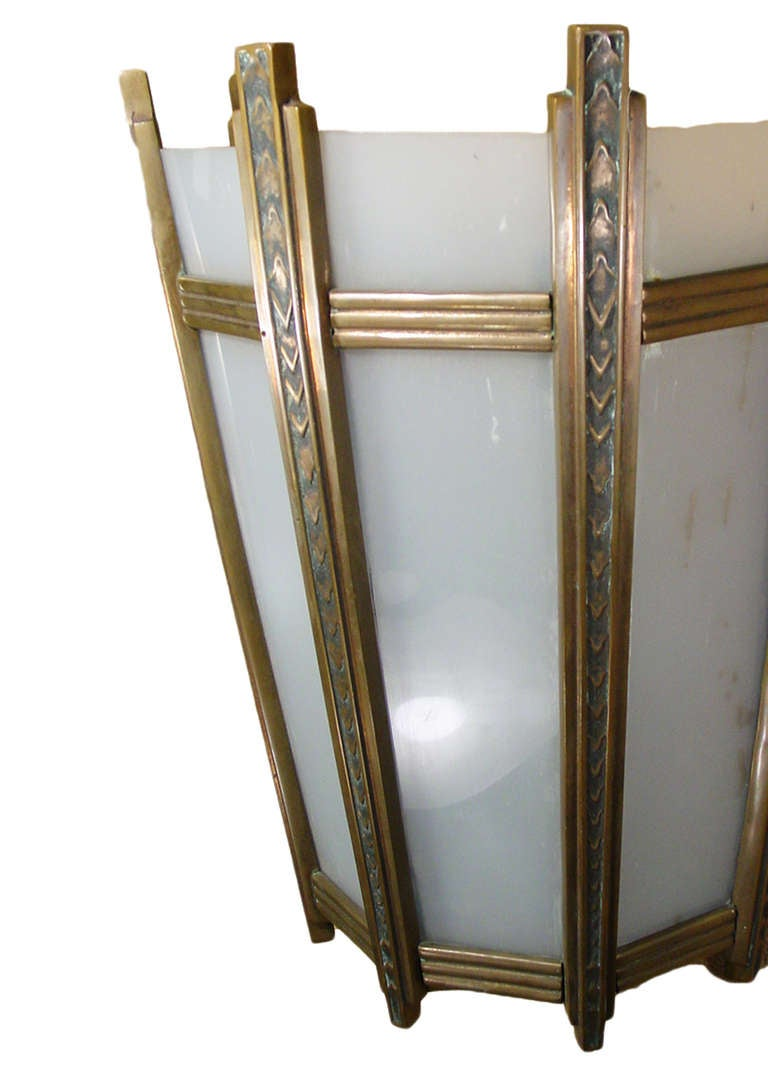 Large French Art Deco Wall Sconce For Sale at 1stdibs