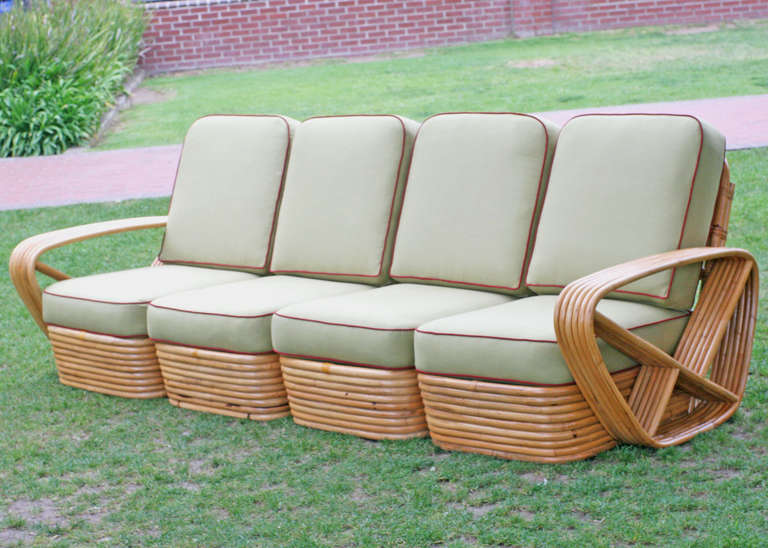Marvelous Square Pretzel Rattan Four Seat Sectional Sofa By Paul Inzonedesignstudio Interior Chair Design Inzonedesignstudiocom