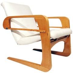 """Rare 1938 Kem Weber """"Airline"""" Armchair for Walt Disney"""