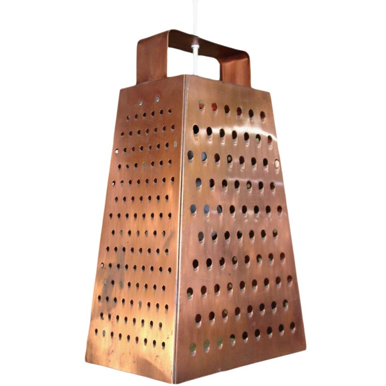 Curtis Jere Cheese Grater Hanging Chandelier At 1stdibs