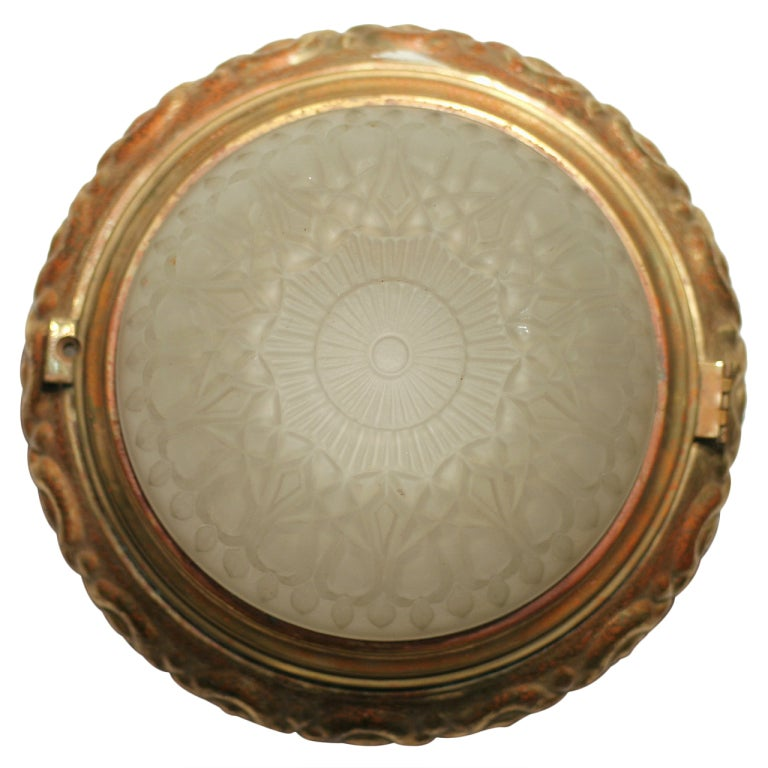 Solid Bronze Dome Ceiling or Wall Light Fixture