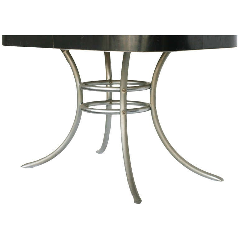 modern chrome dining table base mid century kitchen legs sale retro and chairs canada