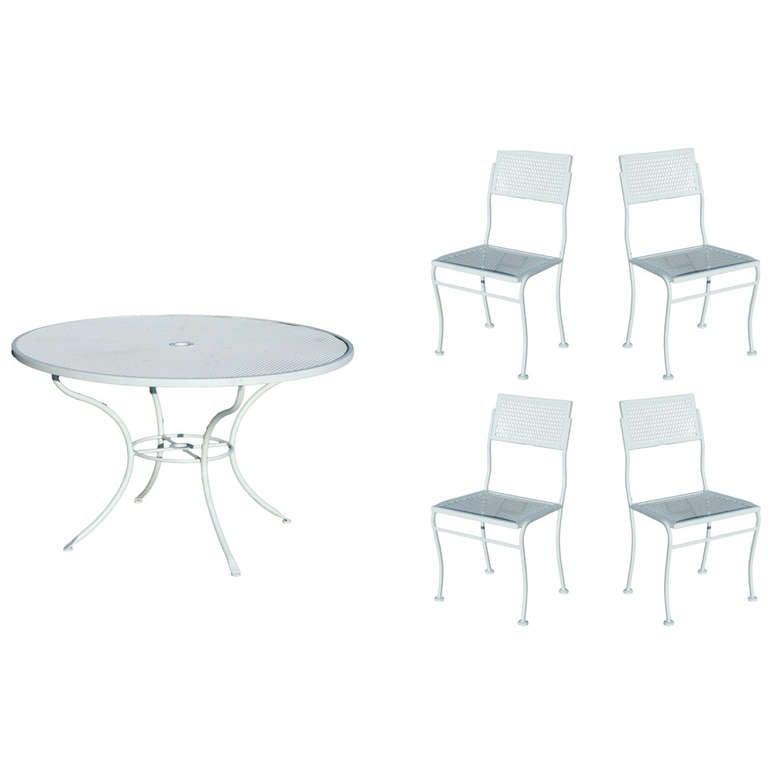 Mid Century Russell Woodard Steel Outdoor Patio Furniture at 1stdibs