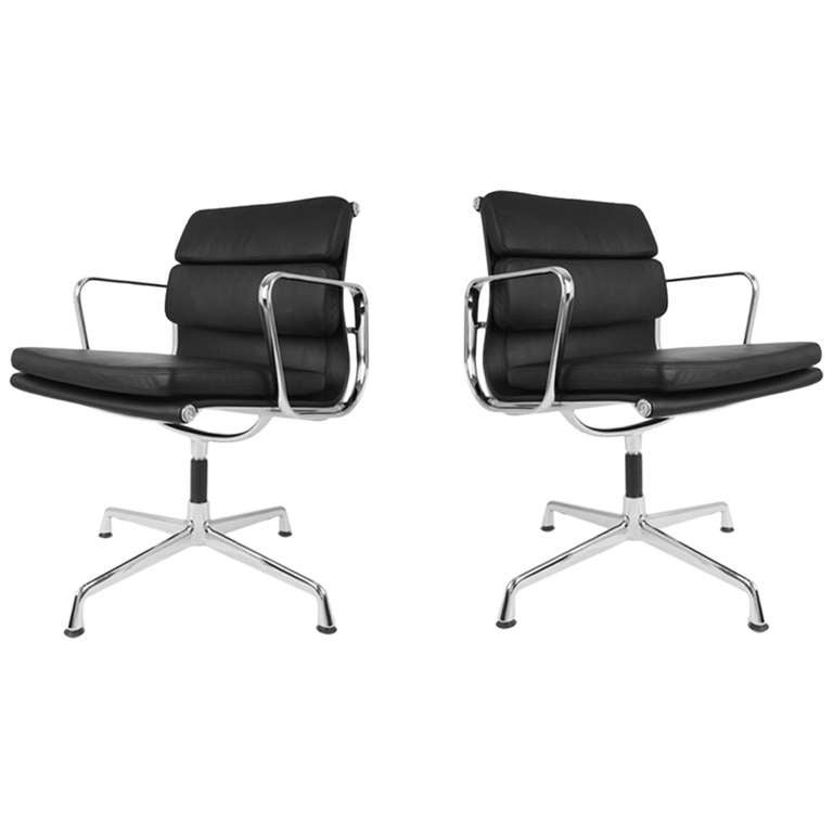 Eames Soft Pad Management Chairs For Herman Miller Set Of Two At 1stdibs