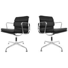 Eames Soft Pad Management Chairs for Herman Miller, Set of Two