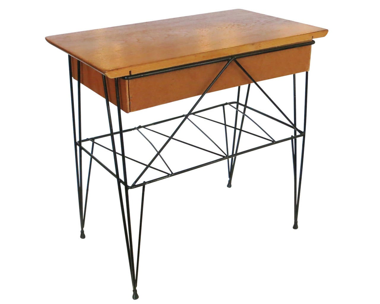Royere Style Wire Frame Sculptural Table At 1stdibs