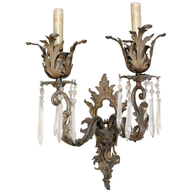 Italian Style Wall Sconces : Italian Baroque Style Wall Sconce at 1stdibs