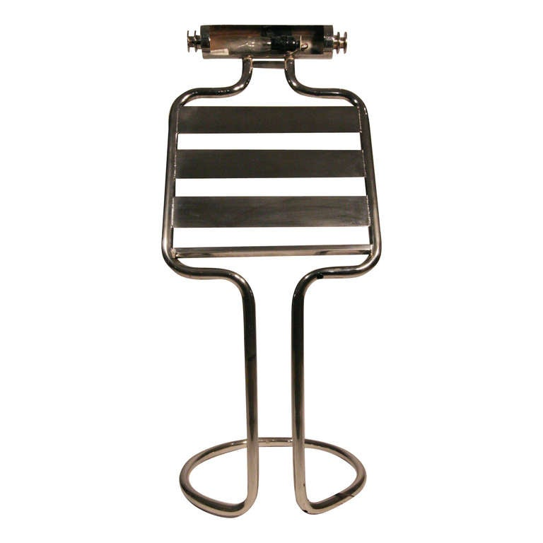 mid century chrome sheet music stand for sale at 1stdibs. Black Bedroom Furniture Sets. Home Design Ideas