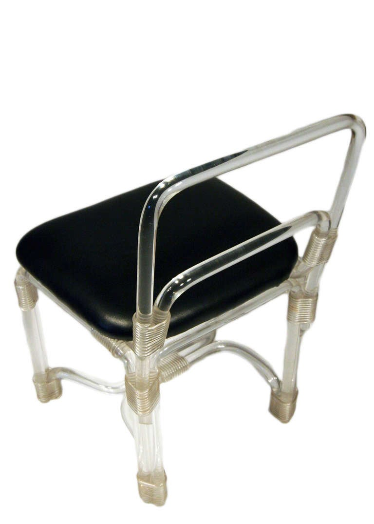 Elegant 1940s Lucite Side Chairs By Grosfeld House   ** Saturday Sale** 3