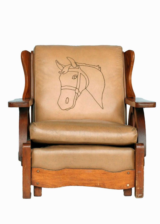 Western Style Wagon Wheel Lounge Chair, Circa 1950 2
