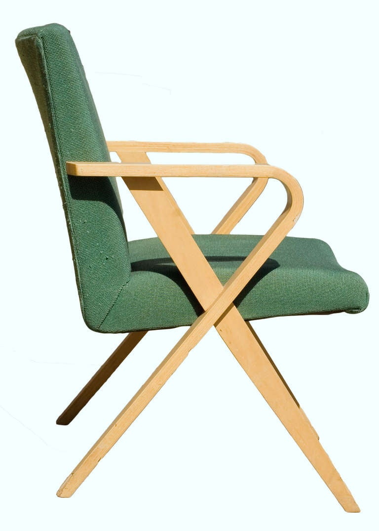 Set Of Four Thonet Bentwood Upholstered Armchairs For Sale At 1stdibs