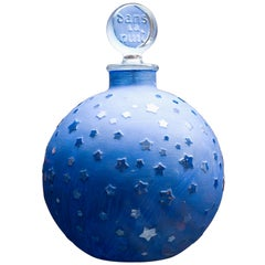 """Seltene Riesige Lalique """"Stars"""" Dans la Nuit Factice Parfümflakon der Nachkriegszeit"""