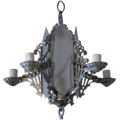 Art Deco Chandelier with Geometric Details