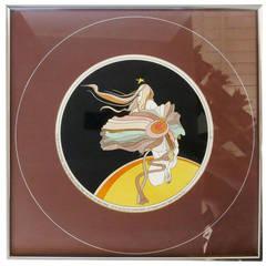 """John Luke Eastman """"The Flower Girl"""" Framed Serigraph with Gallery Tag"""