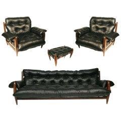 "Sergio Rodrigues ""Mole"" Sofa, Lounge Chairs & Ottoman"
