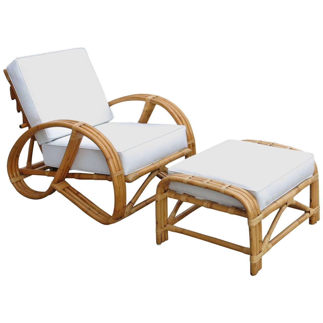 round 3 4 pretzel rattan reclining lounge chair with. Black Bedroom Furniture Sets. Home Design Ideas