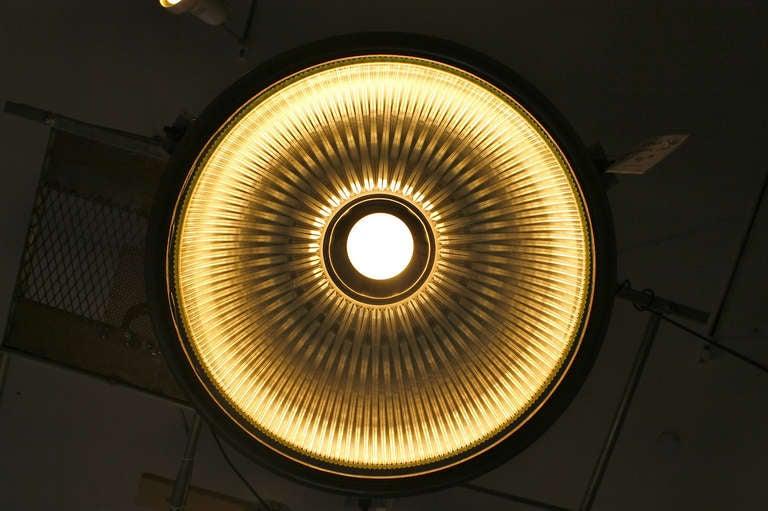Holophane Industrial Hanging Light Fixture For Sale 1