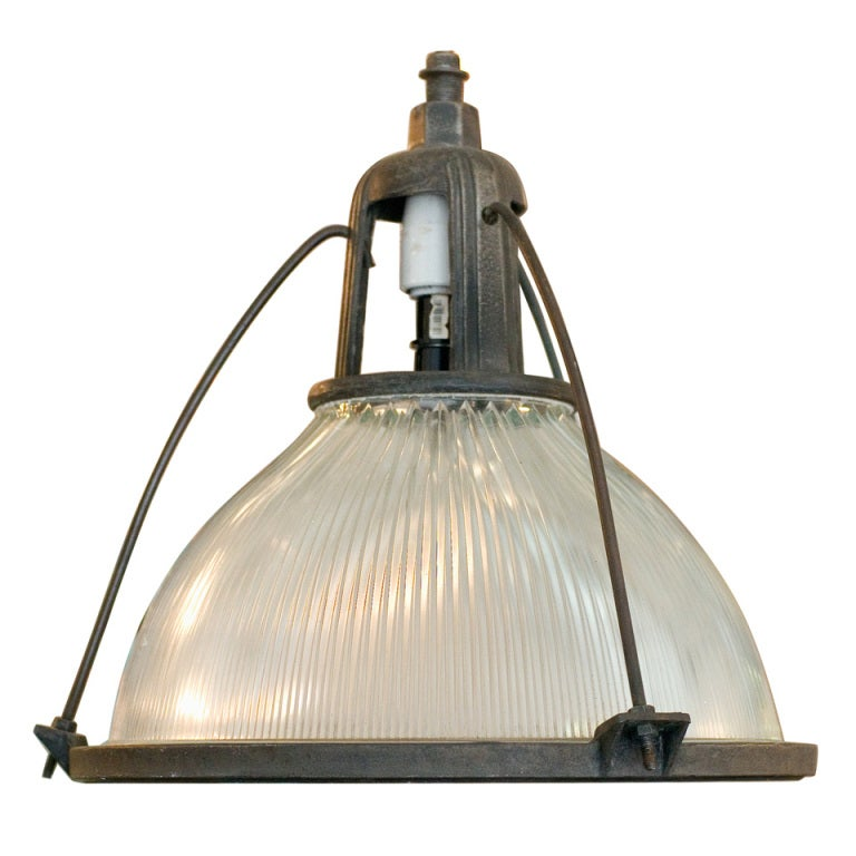Holophane Industrial Hanging Light Fixture At 1stdibs