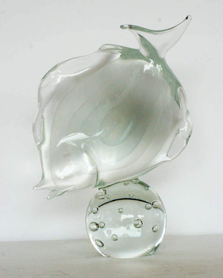 This item is marked 25% off in celebration of Harveys on Beverly's 50th Anniversary!   Licio Zanetti is world-renowned for his Murano glass sculptures. Zanetti Vetreria Artistica was founded in 1956 by the ass master Oscar Zanetti and his son Licio.
