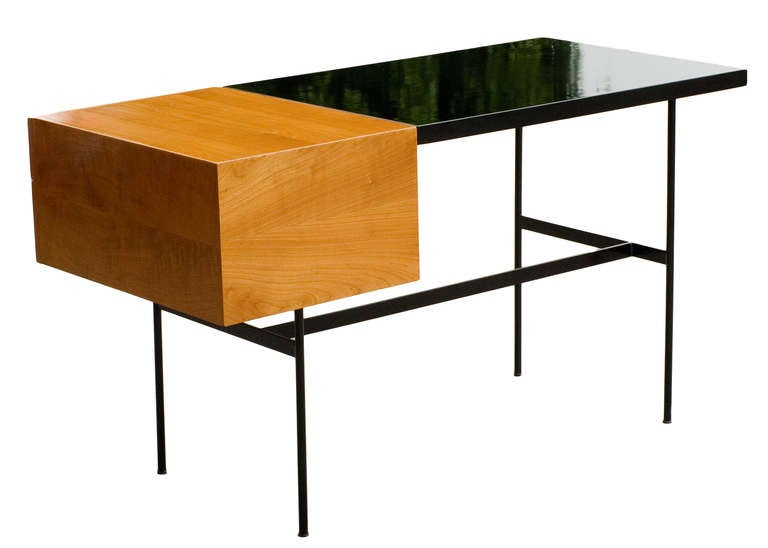 pierre paulin model cm 141 desk for thonet at 1stdibs. Black Bedroom Furniture Sets. Home Design Ideas