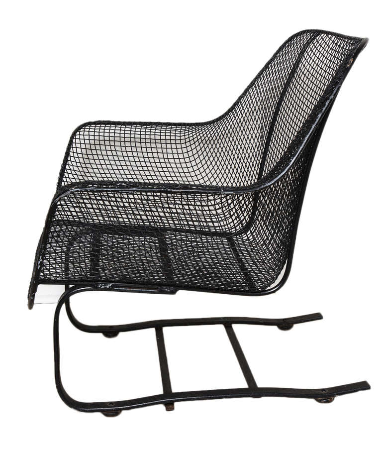"""Pair of Russell Woodard """"Sculptura"""" Spring Rocker Chairs w"""