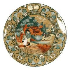 "Buffalo Pottery Deldare ""Dr Syntax"" Plate"