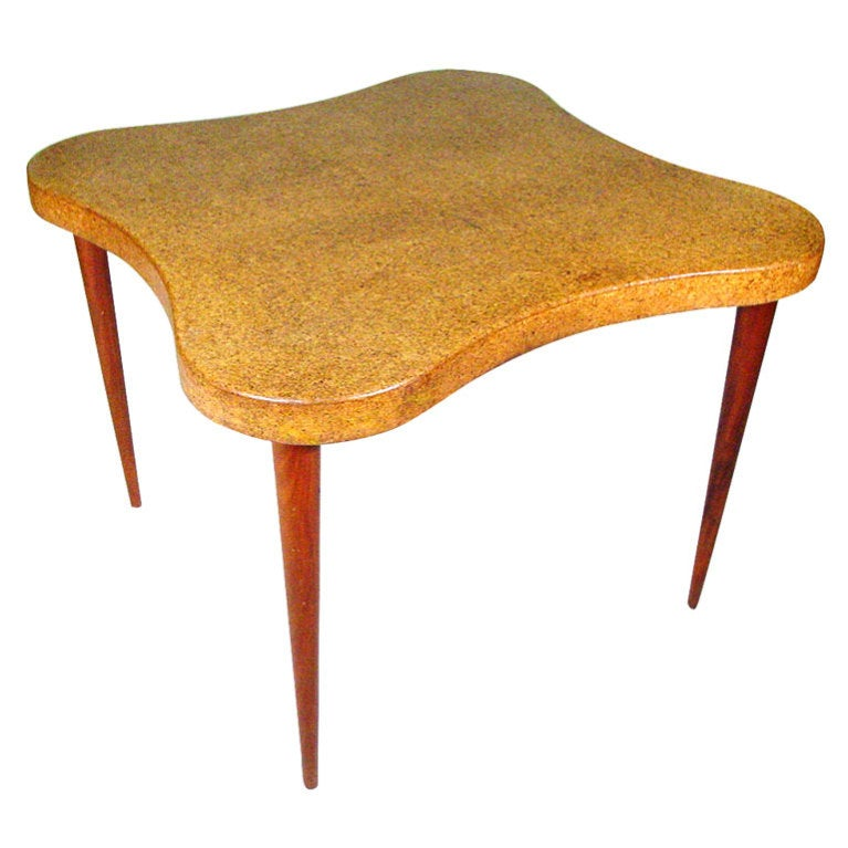 Paul Frankl Cloud Cork Top Table For Johnson Furniture