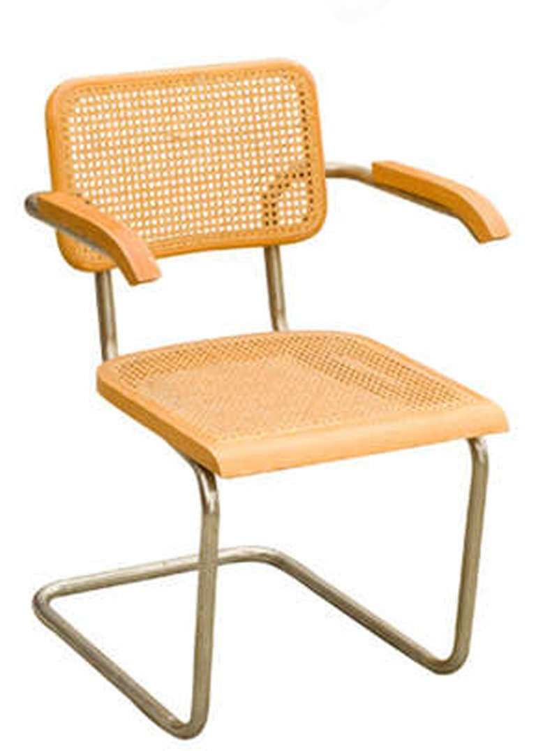 Marcel Breuer Wicker Back Chrome Quot Cesca Quot Chairs By Stendig