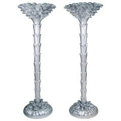 French Torchiere Floor Lamps in the Manner of Serge Roche