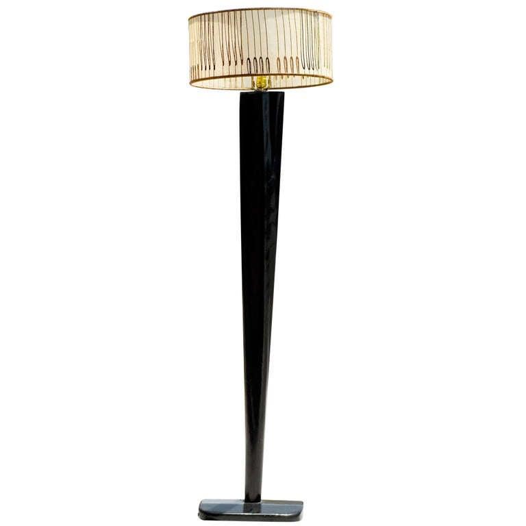 Heywood Wakefield Floor Lamp W Drum Shade At 1stdibs