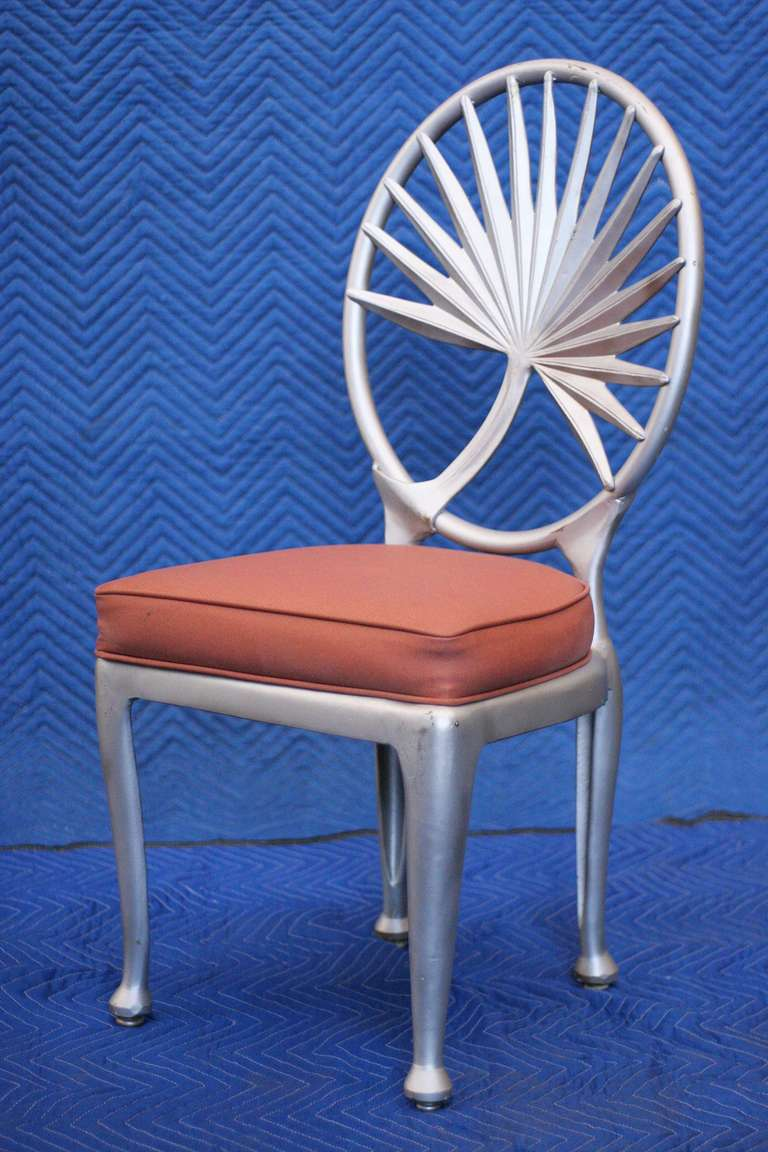 Art Aluminum Palm Leaf Dining Chair In And Outdoor Patio