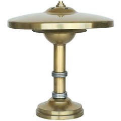 Brass Machine Age Deco Desk Lamp