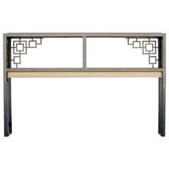 """Black and Gold """"Prairie"""" Style Console Table **Saturday Sale**"""